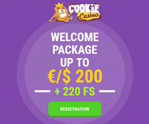 Latest bonus from Cookie Casino